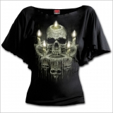 Spiral Gothic T-Shirt im Latin Look - Waxed Skull