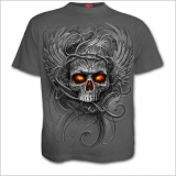 Graues Spiral Gothic T-Shirt - Roots of Hell